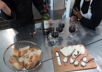 Wine and cheese break