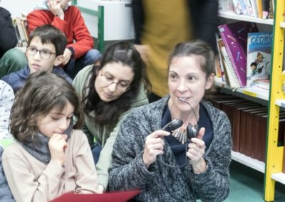 Invited teacher introduces herself to Knoxville kids